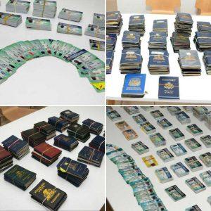 Migración decomisa miles de documentos alterados