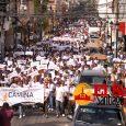 Santiagueros marchan en contra de la violencia hacia la mujer