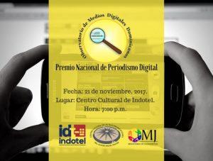 Dan a conocer nominados a Premio Nacional de Periodismo Digital