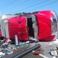 Seis bomberos resultan heridos en accidente
