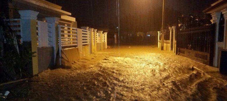 Al menos 500 viviendas resultaron inundadas en La Vega