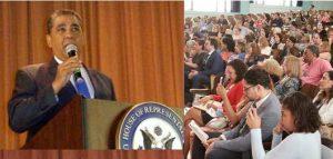 Cientos personas asisten cumbre educación convocada por Espaillat en NY