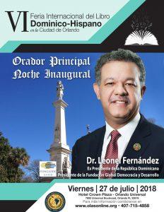 Leonel Fernandez, orator principal en  VI Feria del Libro Dominico-Hispano en Orlando