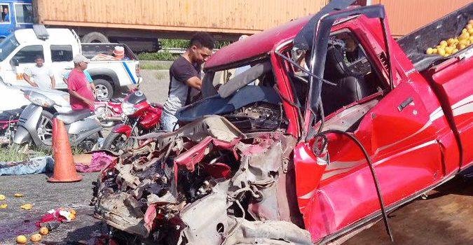 Bonao: Tres muertos y varios heridos accidente de tránsito