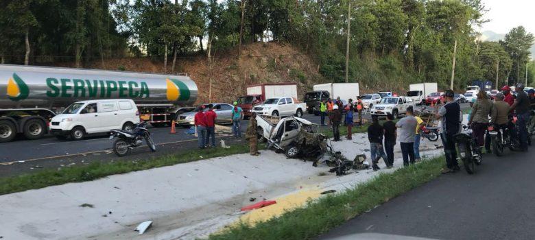 Un muerto y tres heridos accidente próximo a Jacaranda