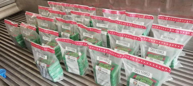 Decomisan en puerto Manzanillo 125 paquetes de cocaína