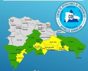 COE reporta 55 desplazados por remanentes de Isaac