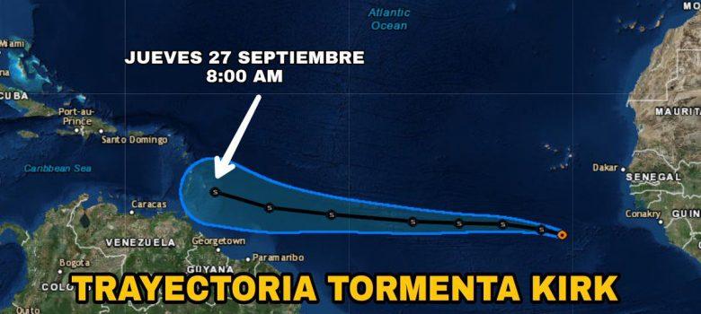 Kirk avanza en el Atlántico
