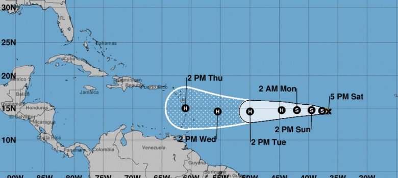 Se forma en el Atlántico la tormenta tropical Isaac