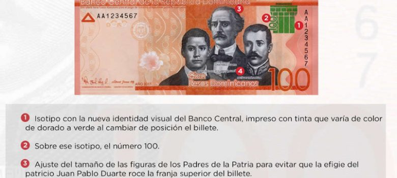 Banco Central emite billete RD$100.00 con nueva identidad visual institucional