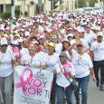 Caminan contra el cáncer en Santiago
