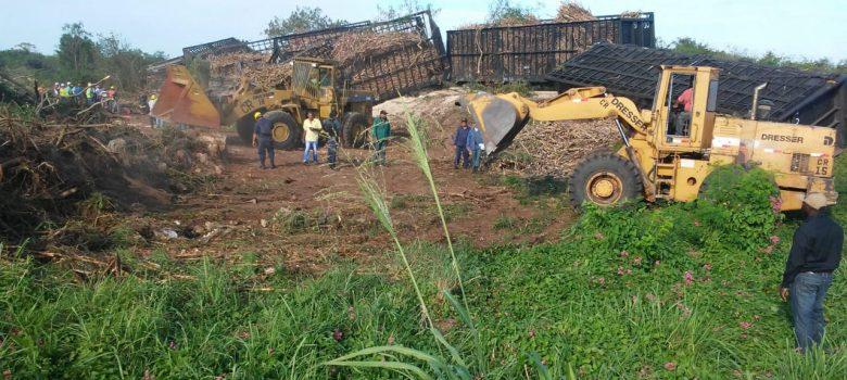 La Romana: Dos muertos al descarrilarse tren cargado de caña