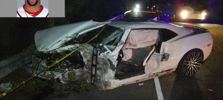 Muere pelotero Braulio Lara en accidente de tránsito