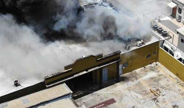 Sofocan incendio afectó Departamento Inspectoría JCE