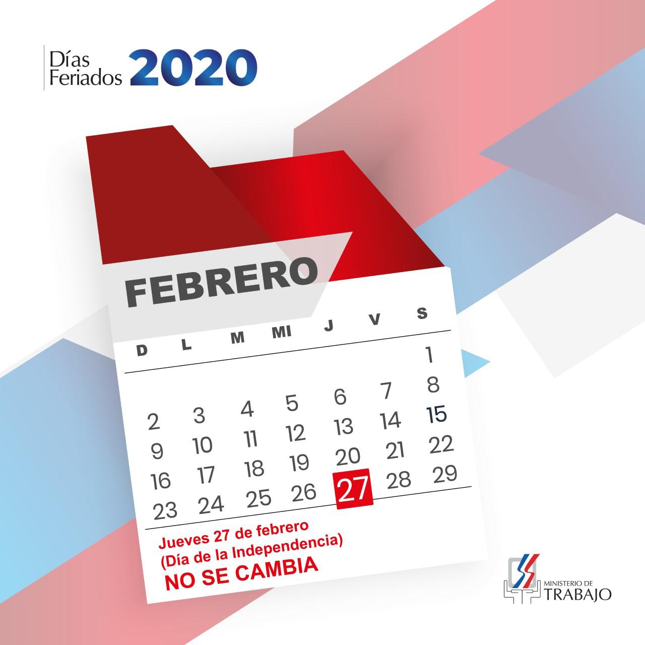 """Ministerio de Trabajo reitera """"Día de la Independencia"""" no se labora"""