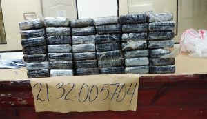 42 paquetes de cocaína