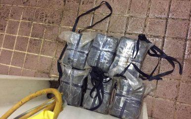 Seis paquetes de cocaína ocupados en muelle Puerto Plata